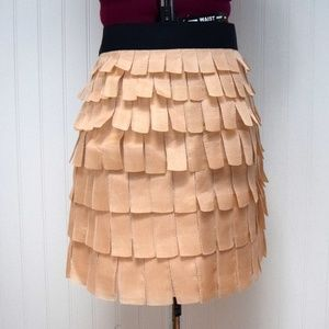 J Crew Collection Taupe/Blush Silk Mini Skirt
